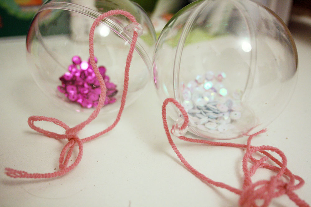 Diy decoration de noel 1 poulette magique - Decoration boule de noel transparente ...