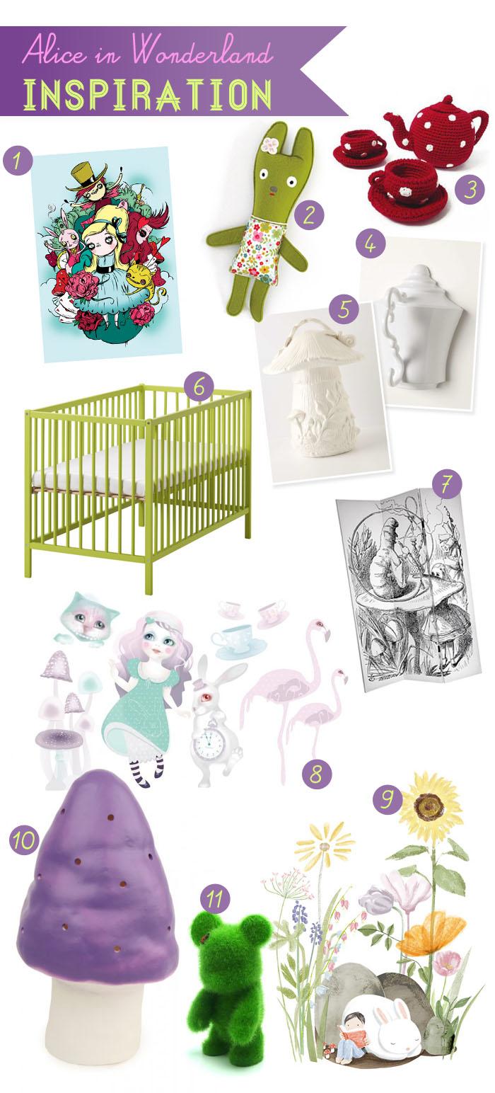 s lection d co chambre d enfant alice au pays des. Black Bedroom Furniture Sets. Home Design Ideas