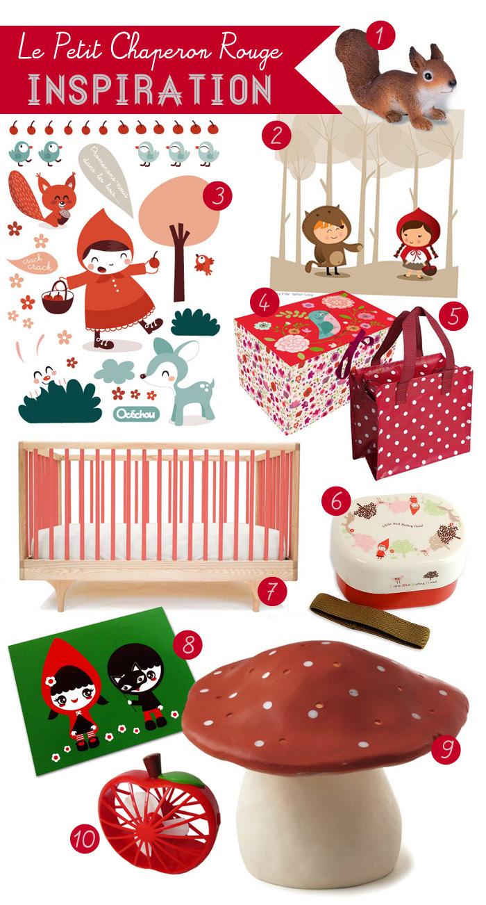 Chambre d enfant #3 : Le petit chaperon rouge – Poulette Magique