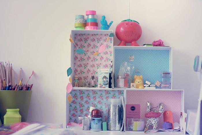 diy recycler vos box en mini tag res poulette magique. Black Bedroom Furniture Sets. Home Design Ideas