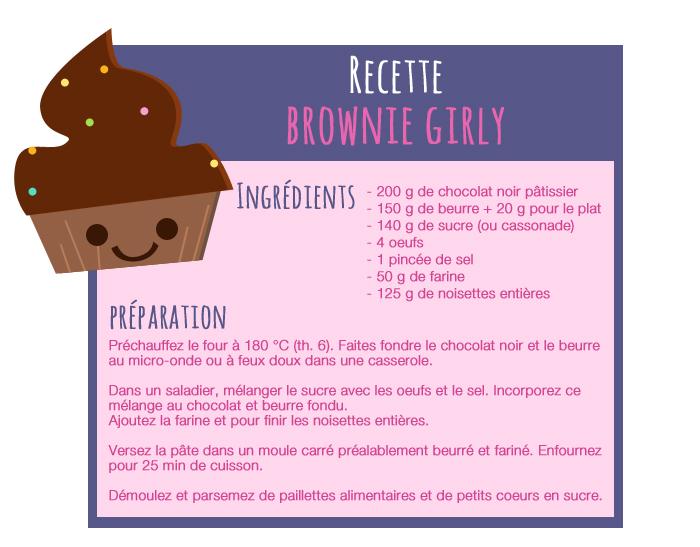 Un brownie tout girly poulette magique - Telecharger recette de cuisine algerienne pdf ...