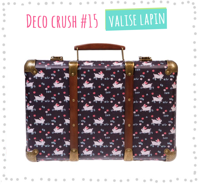 deco crush 14 la valise vintage lapin rjb poulette magique. Black Bedroom Furniture Sets. Home Design Ideas
