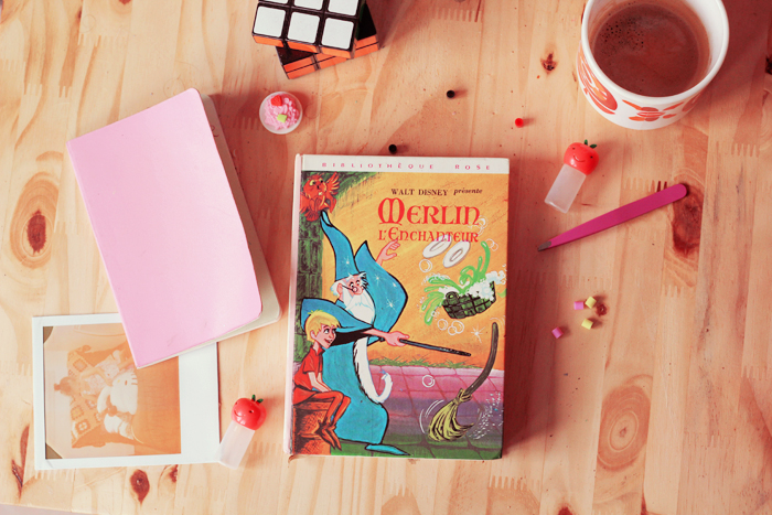 merlin-livre-bibliothèque-rose