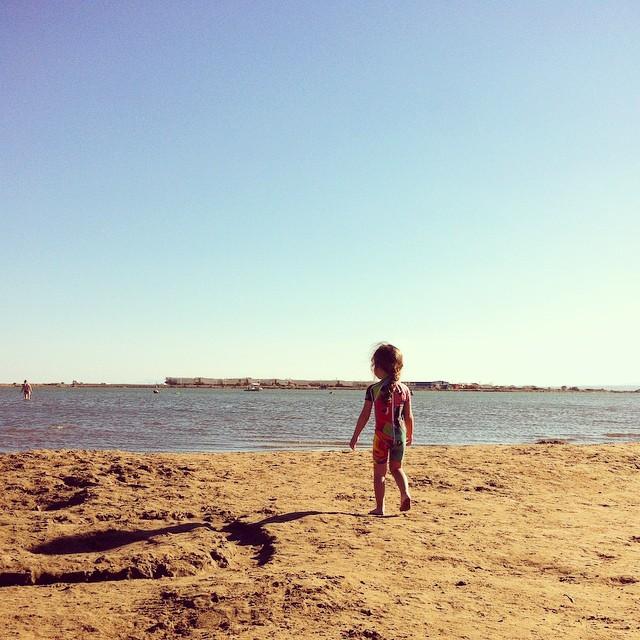 ?La plage déserte le dimanche soir avec les copains ✌