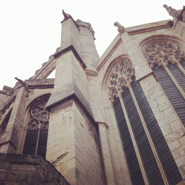 En allant au travail des fois je m'attend a voir des gargouilles ???? #narbonne #cathedrale #narbonnetesbonne