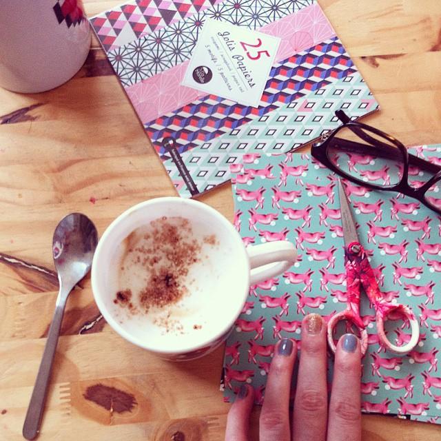 Capucino & origami ☕️?#sweetmorning