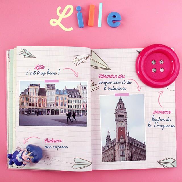 Sur le blog aujourd'hui je vous amené à Lille avec mon carnet de voyage ✈️ #lille #travel #traveldiairy #poulettemagique #kiabievent