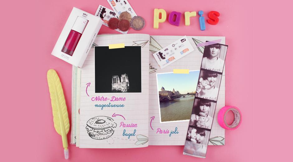Paris mon carnet de voyage poulette magique for Carnet de voyage paris