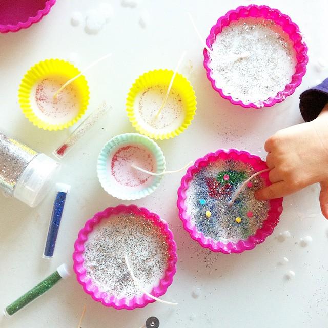 DIY de Noël à 4 mains ? (maman oublie cette photo ?) #diy #candle