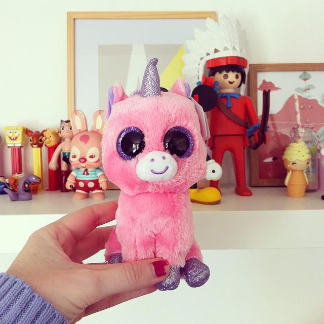 Mission doudou licorne accomplie ? poke @lafillerenne ? #unicorn #beanieboos