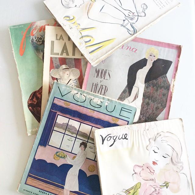 Mes magazines vintage d'amour : Vogue de 1928, 1936 /…