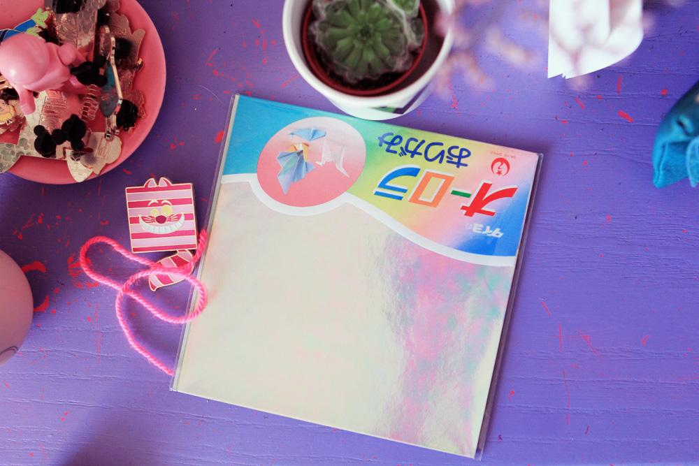 papier origmi holographique