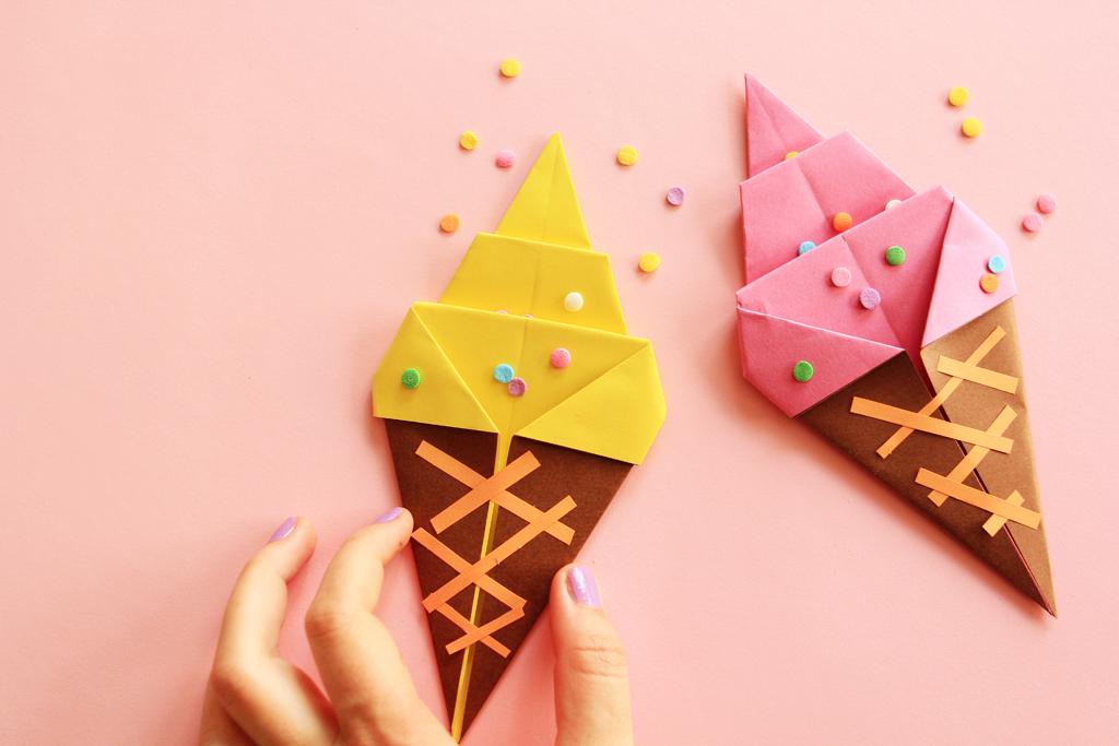 Diy Origami La Glace Bi Goût Yummy Poulette Magique