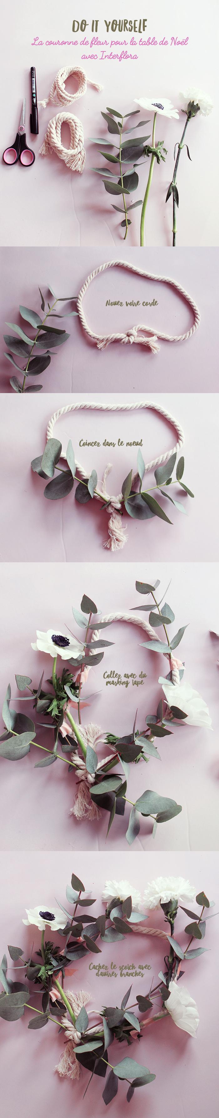 DIY : La couronne de fleurs pour la table de Noël (surprise inside)
