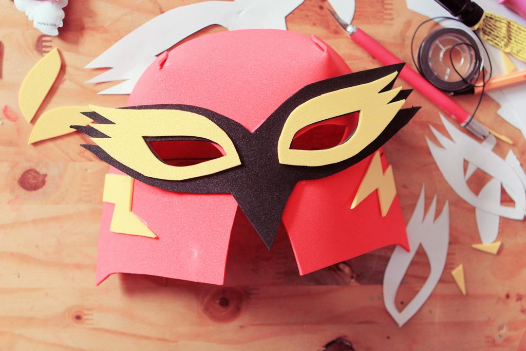 Diy le masque de super h ro 3d avec tfou poulette magique - Masque de super heros a imprimer ...