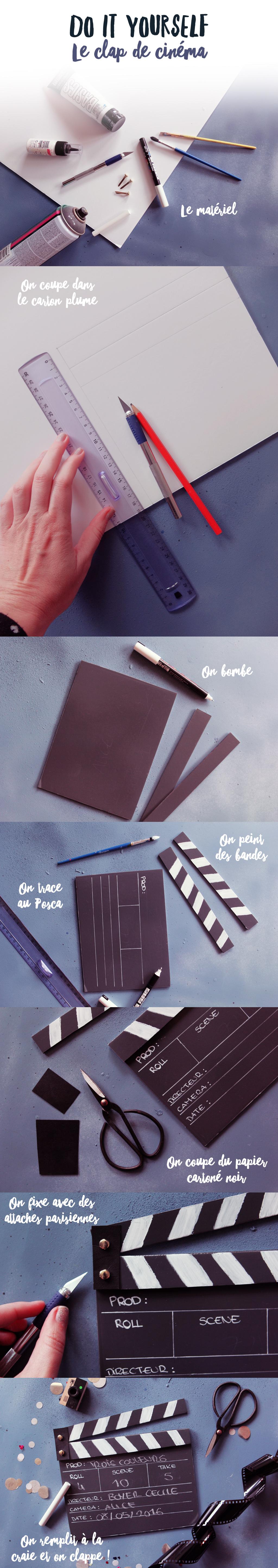 DIY clap de cinema -2