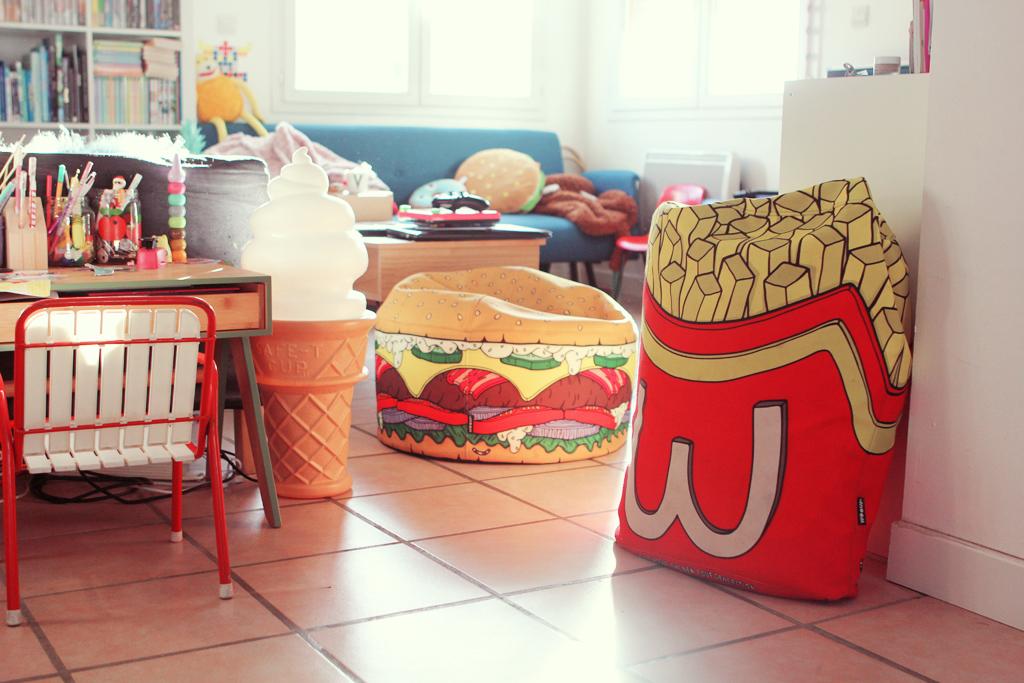 Junk food décoration poulette agique