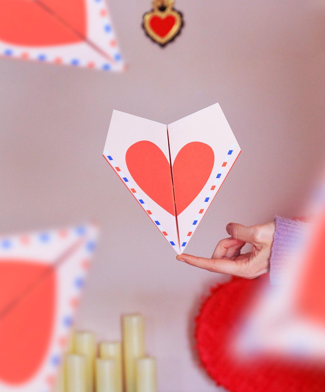 printable avion en paper love